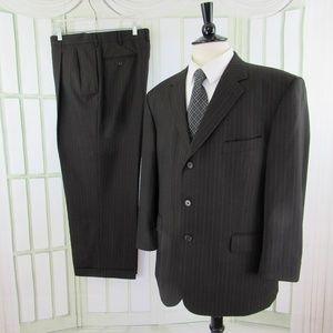 Stafford suit 3 button dark brown 44S 36 x 28